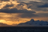 Sunset over the South Shetland islands