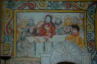 Frescoes in chapel, Ostergotland