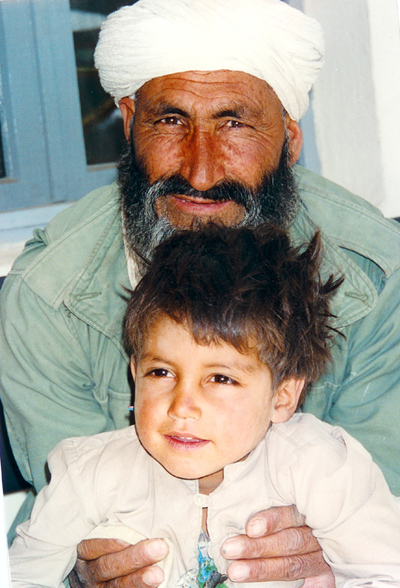 Grandfather and grandson in Herat, Afghanistan