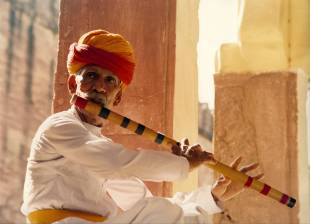 Flute player in Rajasthan