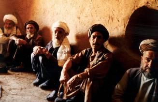 Elders in a cave in N. Afghanistan