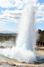 Geysir in Haukadalur valley. was dormant for many years, until Mount Hekla erupted in 2000. The geyser erupts every 10 minutes