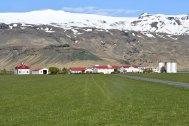 Farm situated right below eyjafjallajökull.