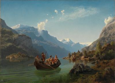 NOR Brudeferd i Hardanger, ENG Bridal Procession on the Hardangerfjord