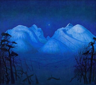 NOR Vinternatt i Rondane, ENG Winter Night in the Mountains