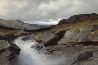 Andreas Edvard Disen, 1845-1923, Norwegian, Hoyfjellparti, 1884