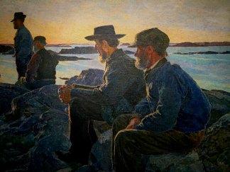 Carl WILHELMSON, 1866-1928, On the Rocks, 1905-06, Goteborg Art Museum.
