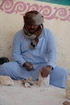 Sculptor near the Valley of the Kings, Egypt