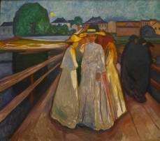 Edvard Munch, 1863-1944, Norwegian, On the bridge