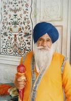 Guard in Amritsar Sikh shrine