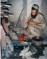 Glassblower in Herat, Afghanistan