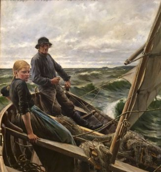 Albert Edelfelt, 1854-1905, Finnish, At Sea, 1883, oil.