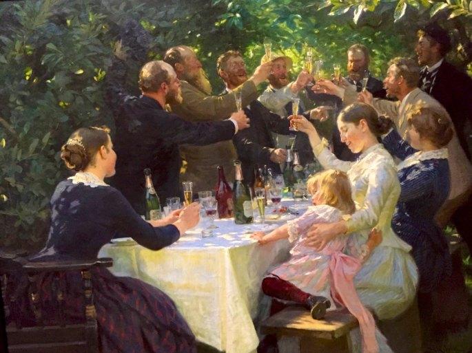 Peder Severin Kroyer, 1851-1909, Danish, 'Hipp, hipp, hurrah! Artists Party', Skagen, DK, 1888.