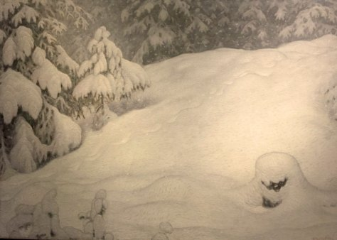 Gustaf Fjaelstad, 1868-1948, Snow, 1900, Oil on canvas, Göteborg Art Museum