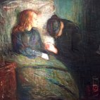 Edvard Munch, 1863-1944, Norwegian, The Sick Girl, 1896, Oil on canvas. (One of Munch's earliest works).