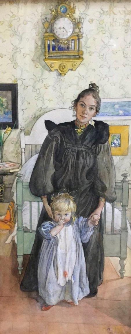 karl-larsson-karin-with-kersti-1898-watercolours-gothenburg-art-museum