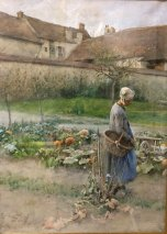 "Oktober, or ""The Pumpkins, 1882, Watercolour"