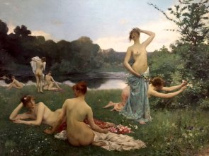 Raphael Collin, 1850-1916, French, The Summer, 1884, oil. Göteborg Art Museum.