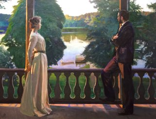 Richard Berg, 1858-1919, Nordisk Sommarkväll, 1899-1900, Oil, Göteborg Art Museum