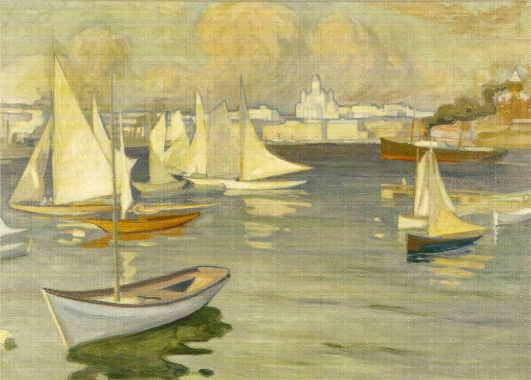 Albert Edelfelt, 1854-1905, Harbour in Helsinki, 1899