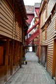 Hansa houses, Bergen, alley