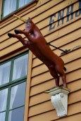 Hansa houses, Bergen, detail