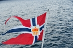 Norwegian postal flag
