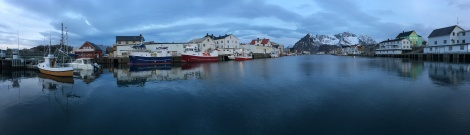 Fishing harbour in the Lofoten