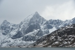 Mountainscape in southern Lofoten